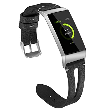 Amazon com: Compatible with Fitbit Charge 3 Bands, Women Men Leather