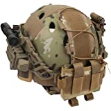 wolfslaves Helmet Battery Pouch MK2 Helmet Battery Pouch Counterweight 600D Nylon Helmet Battery Bag for Shooting, Cycling, H