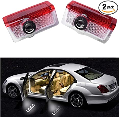 2 LED Mercedes Benz LOGO Easy Fit Car Door Courtesy Puddle Lights A Class Latest