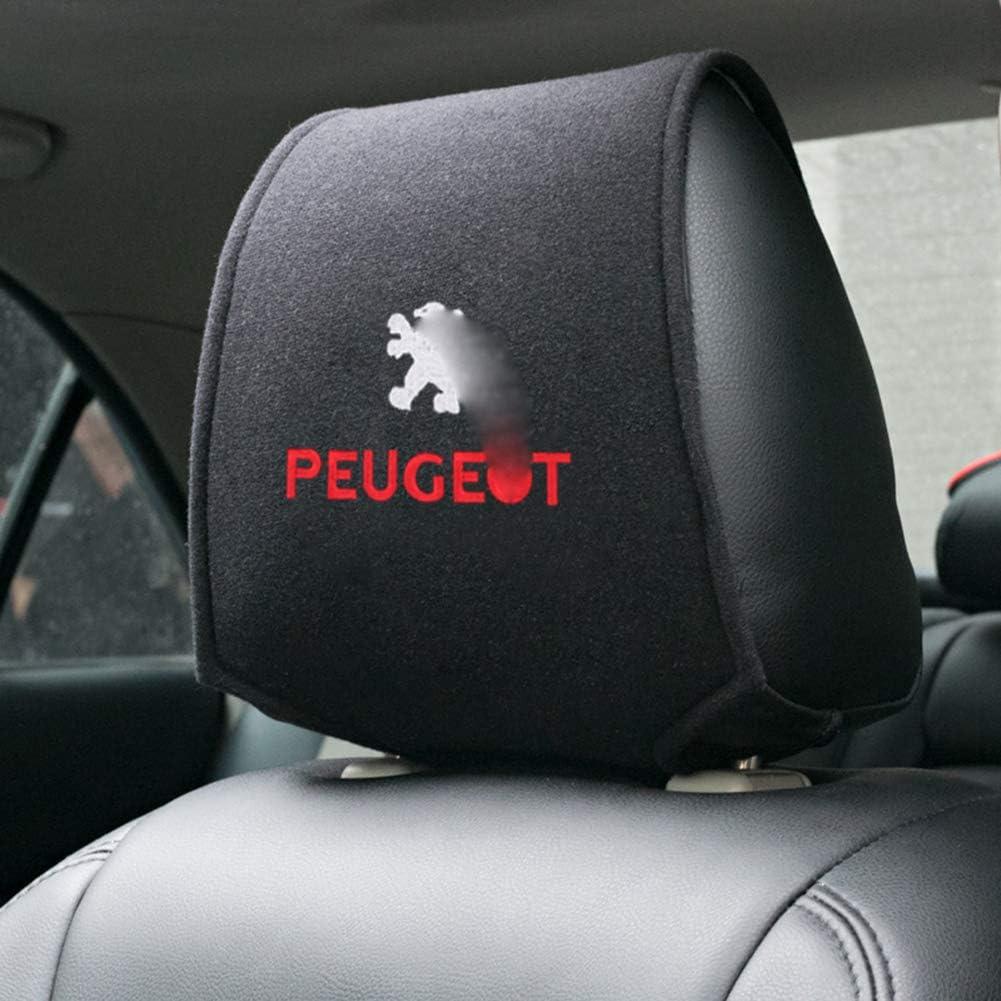 Para Peugeot 107 207 307 407 507 508 408 308 506 206 406 2008 5008 3008 Todos Los Modelos 2pcs Cubierta Del Reposacabezas Del Asiento De Carro Auto Interior Accesorios Protecci/óN Acolchado