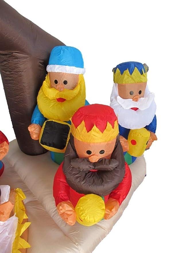 6 pies de largo inflable de Belén con tres Reyes Magos ...