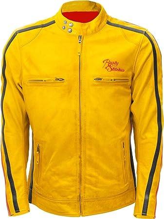 ein paar Tage entfernt Einkaufen Preis vergleichen Rusty Stitches BILLY Herren Motorrad Lederjacke - gelb S