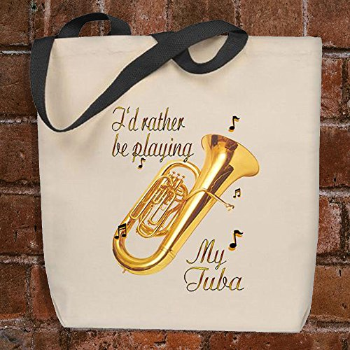 (I'd Rather Be Playing My Tuba - Musician's Tote Bag)