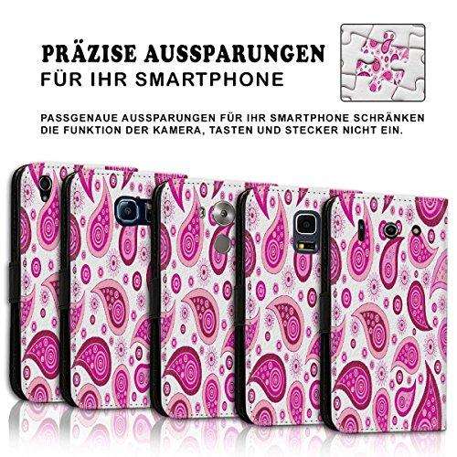 Wallet Book Style Flip Handy Tasche Case Schutz Hülle Schale Motiv Etui für Apple iPhone 6 / 6S - Design Flip MV42