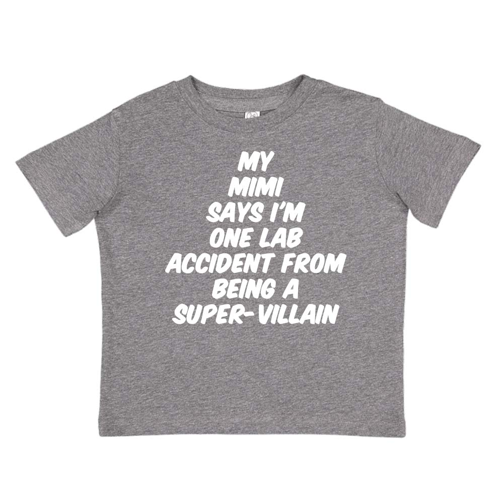 Toddler//Kids Short Sleeve T-Shirt My Mimi Says Im One Lab Accident from Being A Super-Villain