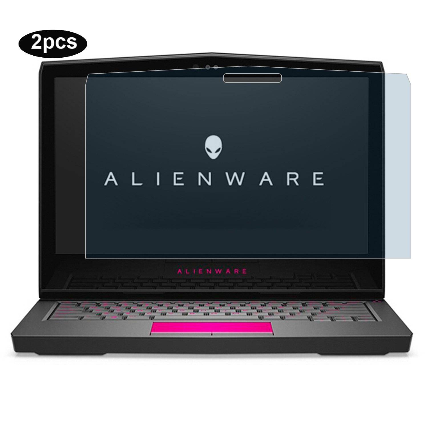 YOUPECK Laptop Screen Protector for Alienware 13 R3 AW13R3 2017, Anti Blue Light Screen Protector, LCD Screen Guard Film for Dell Alienware 13 R3 AW13R3-7000SLV 13.3'' Gaming Laptop (2-Pack)
