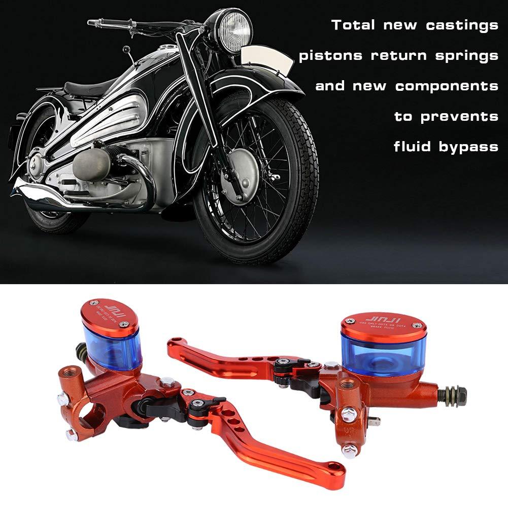 1 par Freno universal Cilindro hidr/áulico Palanca del embrague Bomba de freno con cilindro maestro para Dirt Pit Bike ATV negro