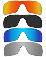 4 Pair Replacement Polarized Lenses for Oakley Batwolf Sunglasses Pack P1