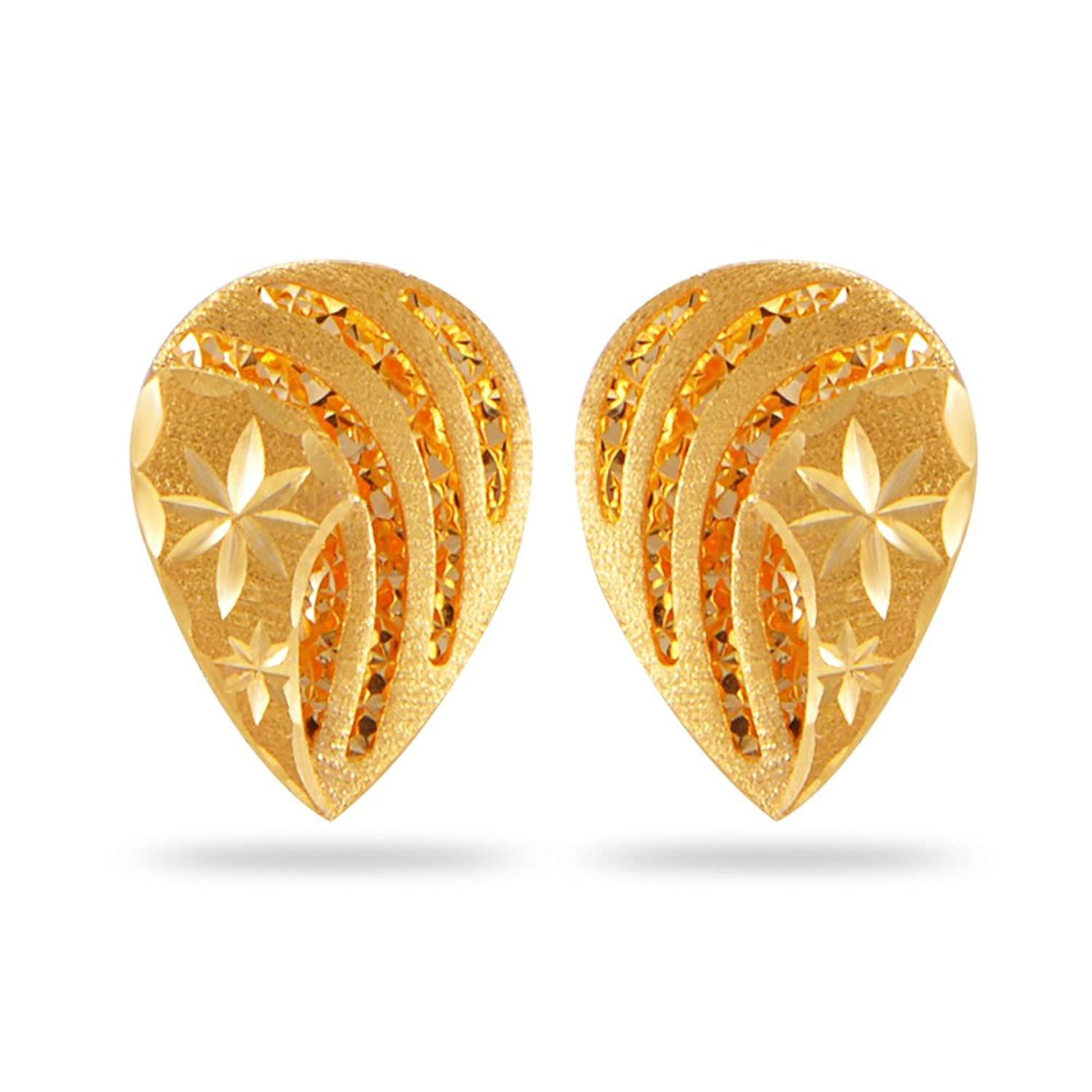 florenza india product shopping jewelone heart store gold the yellow online earrings stud jewellery