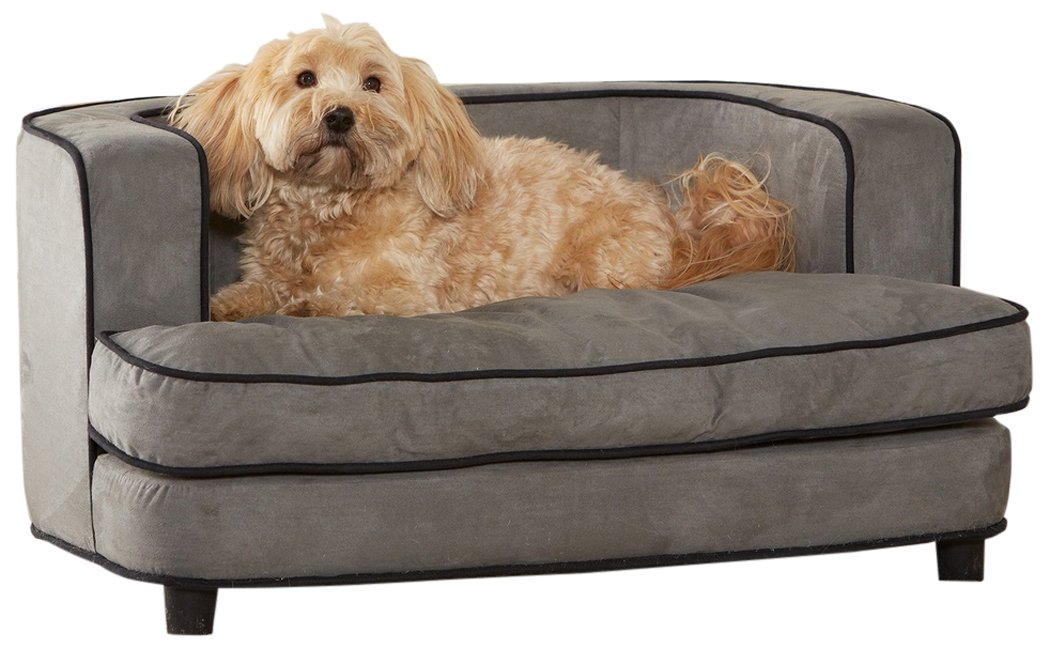Enchanted Home Pet Cliff Bed Ultra Plush Pet Bed, 34.5'' L by 22.5'' W, Grey by Enchanted Home Pet