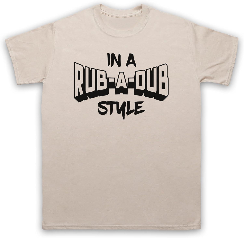 My Icon Art /& Clothing in A Rub A Dub Style Jamaican Reggae Music T-Shirt des Hommes