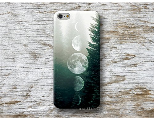 phase lunaire lune Coque É tui Phone Case pour Samsung Galaxy S9 S8 Plus S7 S6 Edge S5 S4 mini A3 A5 J3 J5 J7 Note 4 5 8 Core Grand Prime