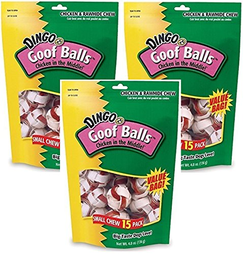 (Dingo Small Goof Balls Value Bag (3 Pack / 15 Treats Per Pack))