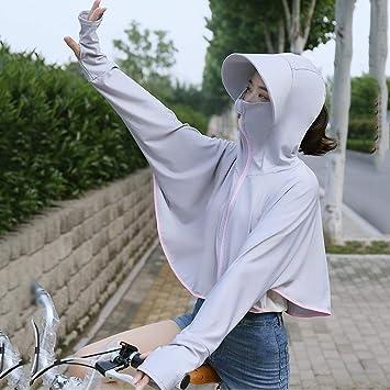 S-Chihir Ropa de protección Solar Protector Solar Camisa de Manga Larga, UPF50 + Verano de