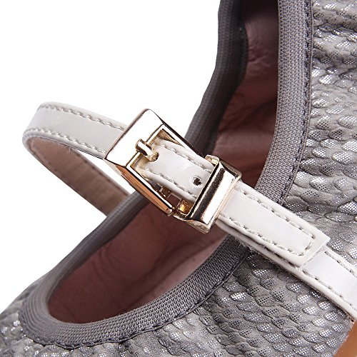 Weipoot Solid Women Pu No-heel Round Closed Teen Pull On Flats-shoes Abrikoos