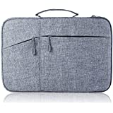 """Megoo 12 Inch Sleeve Case for Microsoft New Surface Pro 5/4/3/6 12.3"""", 11"""" 12"""" Macbook/Dell/Chromebook/Samsung Galaxy Book Tablet Laptop Slim Water Resistant Carrying Case with Handle and Pocket(Gray)"""