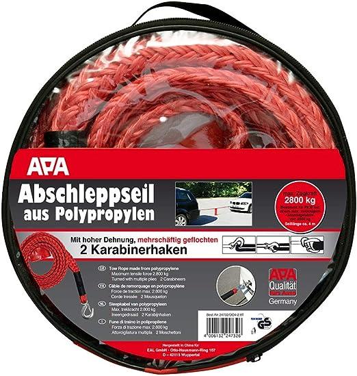 Apa 24732 Abschleppseil Max Zugkraft 2800 Kg Red Auto