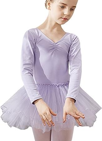 Y-BOA Leotardo niña vestido tutú gimnasia niño tul danza Ballet ...