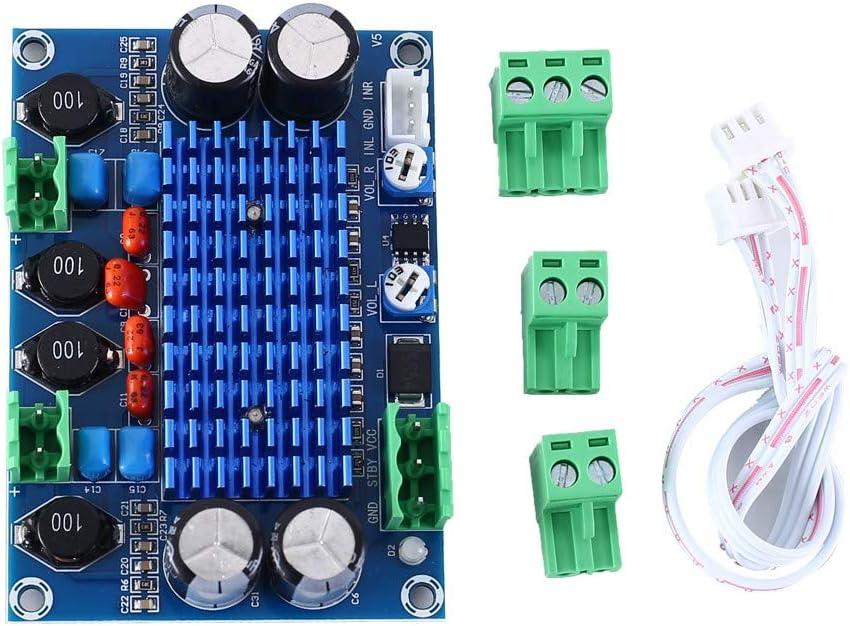 AILOVA Tablero Amplificador De Potencia Digital Módulo Amplificador XH-M572 DC 9V 12V 24V 120W+120W Amplificadores De Salida Estéreo De Doble Canal para Proyectos De Bricolaje