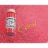 Coral, Extra Fine Iridescent Glitter 1/128, 4oz Shaker Bottle