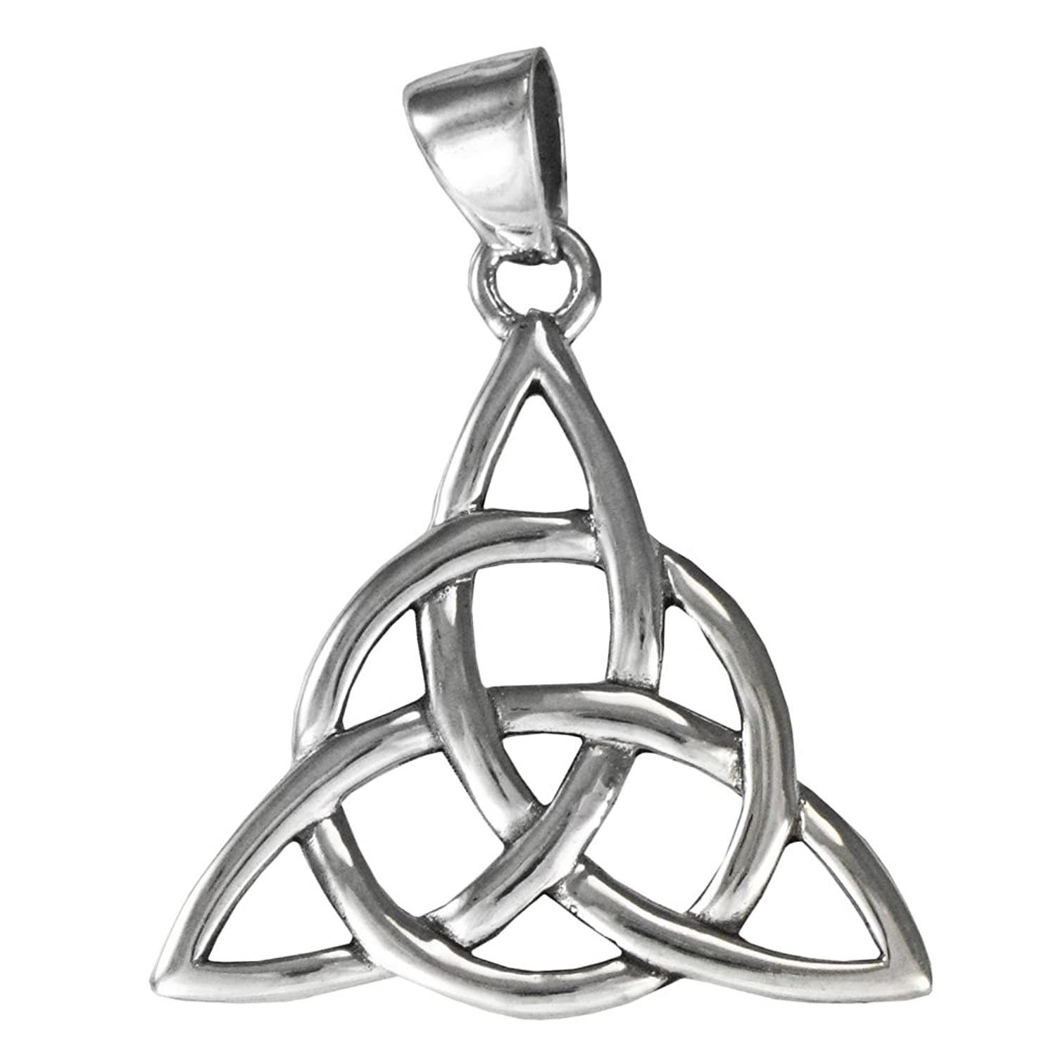 Amazon sterling silver celtic knot triquetra pendant 1 18 amazon sterling silver celtic knot triquetra pendant 1 18 inch tall jewelry biocorpaavc