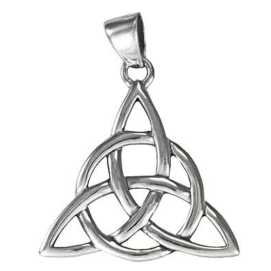 Amazon Sterling Silver Celtic Knot Triquetra Pendant 1 18
