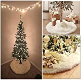 Lulutus Christmas Tree Skirt White for Merry Christmas Party Decoration,30-Inch Round