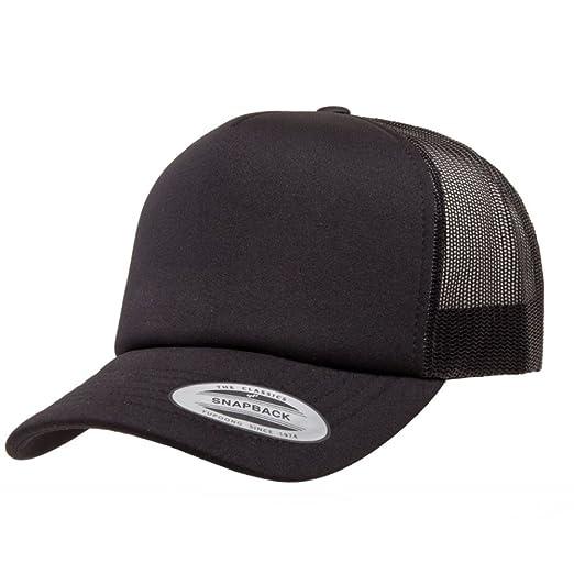 2040USA Flexfit Curved Visor Foam Trucker Mesh Snapback Hat-6320 (Black) 8eac07ede08