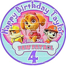 PAW PATROL: ROUND Personalized edible image cake topper birthday party decor decoration premium frosting sheet