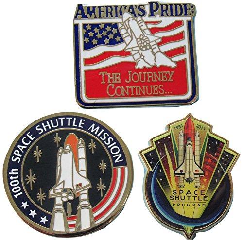 Space Shuttle Program Pin Trio Commemorative Official NASA -