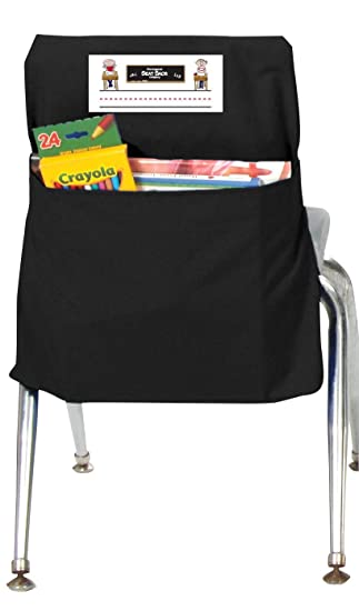 seat storage pocket up to 17 wide 26 Canvas Chair pockets Desk chair back pocket Seat Sacks