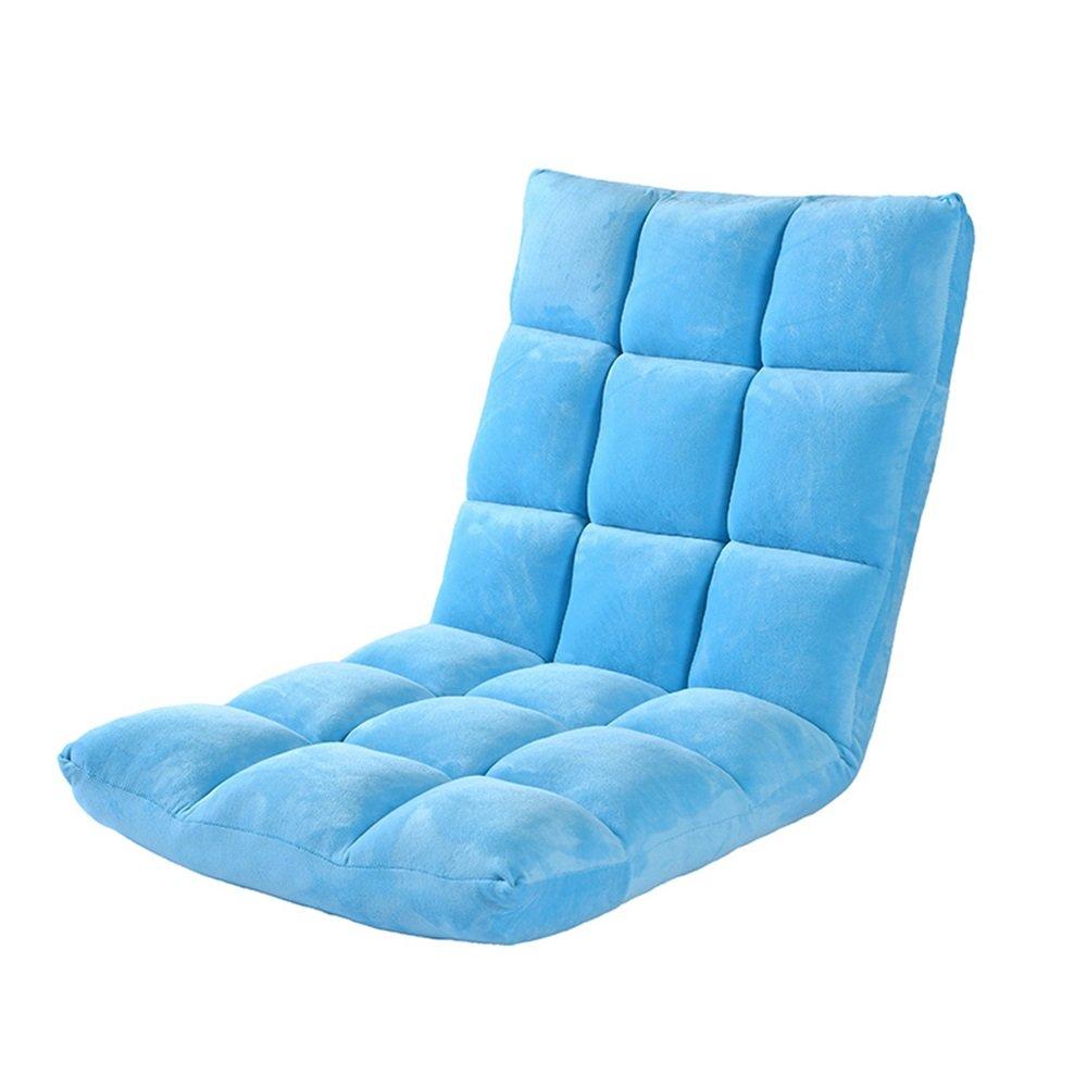 【楽ギフ_包装】 ベンチ (A++) 床の椅子のベッドコンピュータの椅子の背もたれ怠惰な単一の小さなソファの折り畳み式の寮の窓の床のソファ(111* 50* 12センチメートル) (A++)* (色* : 青) 青 B07DFM9JYC, さくら茶舗:0352cd85 --- cliente.opweb0005.servidorwebfacil.com