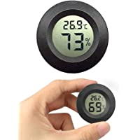JEDEW Mini higrómetro termómetro, temperatura interior, medidor de humedad para incubador de casa verde reptil, terrario…