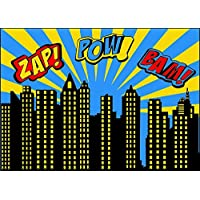 Qian Superhero Backdrops Vinyl Photo Backgrounds 7x5 Photography Birthday Party