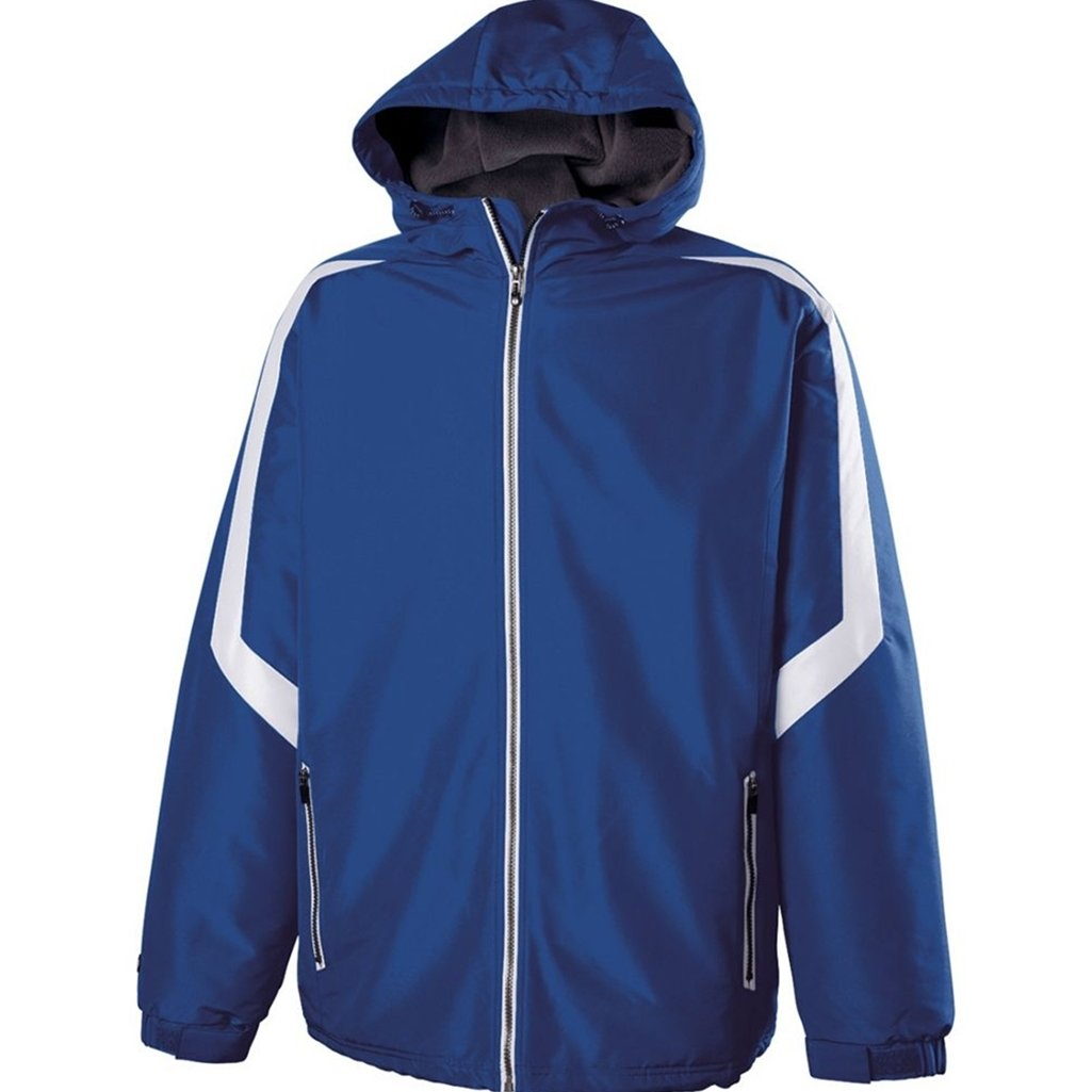 Holloway Youth Charger Jacket (Medium, Royal/White) by Holloway