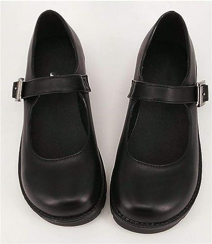 JK Lolita Japanese School Uniform Flat Heel Students Cosplay Shoes
