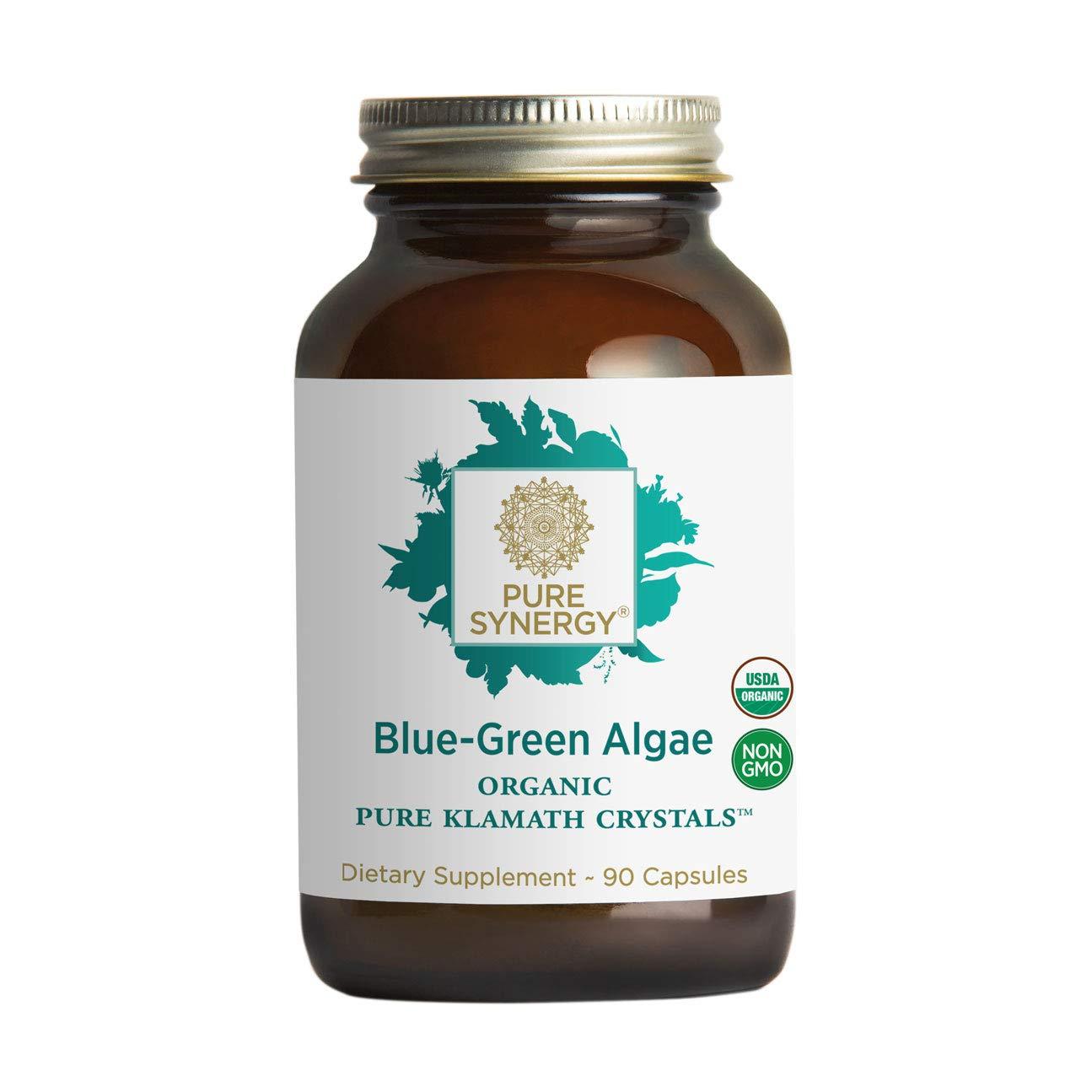 Pure Synergy USDA Organic Klamath Blue Green Algae (90 Capsules) Fully Tested, Non-GMO