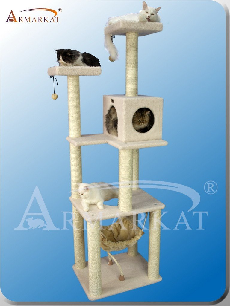 Amazon.com: ARBOL para GATOS de ARMARKAT modelo CLASSIC FAUX FLEECE ...