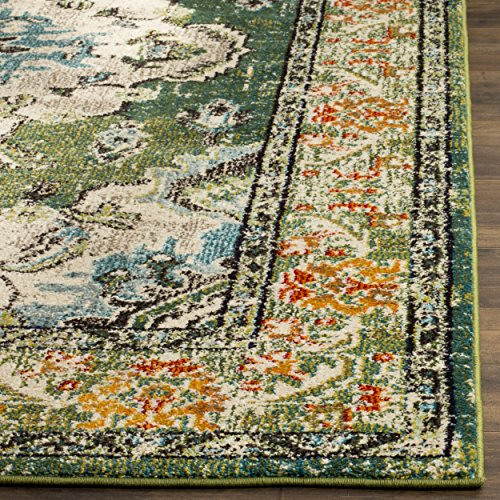 Vintage Effect Rug: Safavieh Monaco Collection MNC243F Vintage Oriental Forest