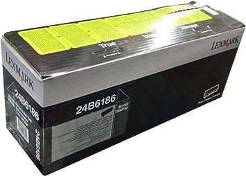 Black Lexmark 24B6186 M3150 XM3150 XM3150H Toner Cartridge in Retail Packaging