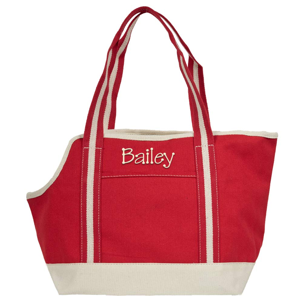 LD BAGS Personalized Small Cat or Dog Pet Carrier Tote Bag by LD BAGS