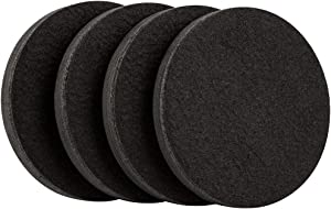 Super Sliders 4763595N Reusable Furniture Sliders for Hardwood Floors Quickly and Easily Move Any Item, 4 Pack, Black
