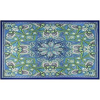 """Glow in the Dark Infinity Star Tapestry Art Curtain w// Corner Loops HUGE 60x90/"""""""