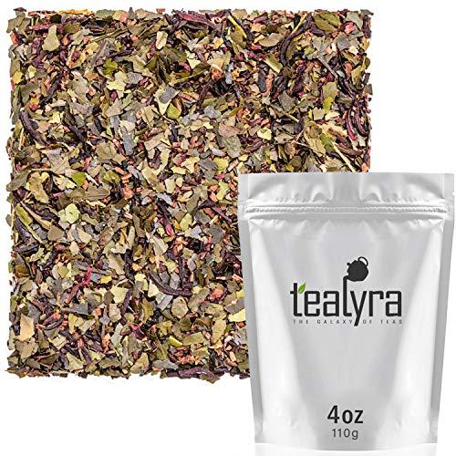 Tealyra - Summer Strawberry Mint Guayusa - Hibiscus - Honeybush - Orange - Herbal Fruity Loose Leaf Tea - All Natural - 112g (4-ounce)