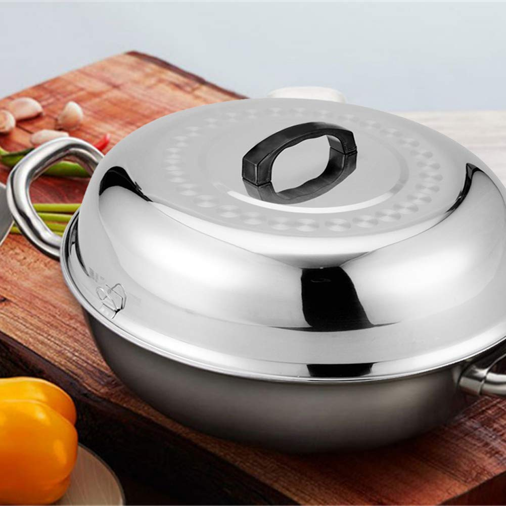 Stainless Steel Cheese Melting Dome, 16.53 Inch Round Basting Cover - Round Basting Cover and Steaming Cover - Best for Use by Meethome (Image #4)