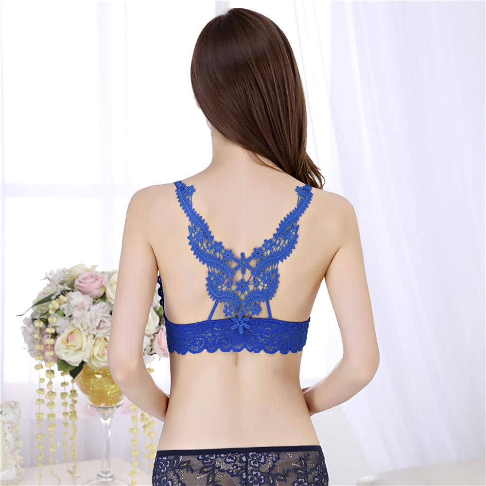Womens Adjustable Solid Lace Seamless Plus Bra Breathable Push Up Underwear