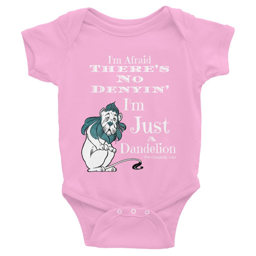 Wizard of Oz Cowardly Lion Quote Infant Bodysuit