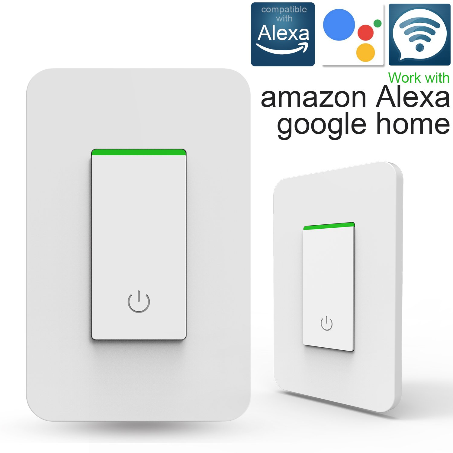 Smart Light Switch Wifi Alexa Work With Amazon How Does A Google Home Timing Function Overload Protection No Hub Required 1 Pack