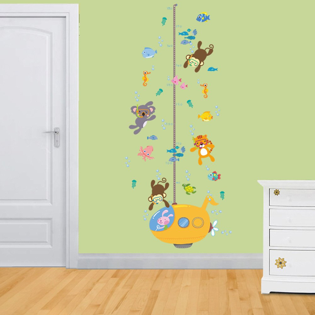 KELAI & craft art decor Cartoon Giraffe Animal Wall Decals Beautiful ...