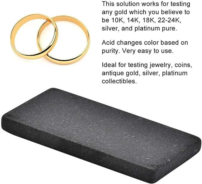 Pr/áctica Joyer/ía Herramienta de Prueba de Oro Touchstone Piedra Detectada de Oro Port/átil para Examen de Prueba de Oro Herramienta de Joyer/ía de Piedra T/áctil L